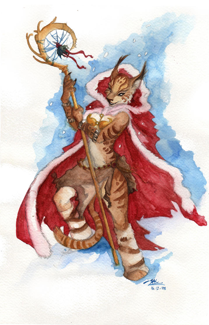 Christmas Lynx by Quarter-Virus