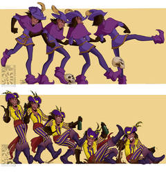 Sequences - Clopin Kicking and Falling by Quarter-Virus