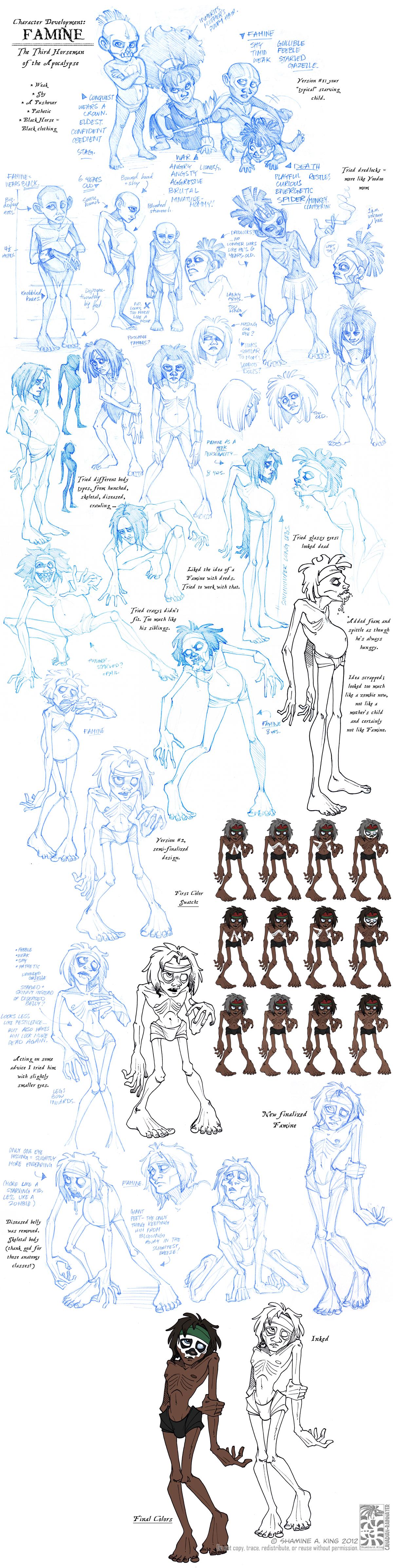 Character Development: Famine by Quarter-Virus