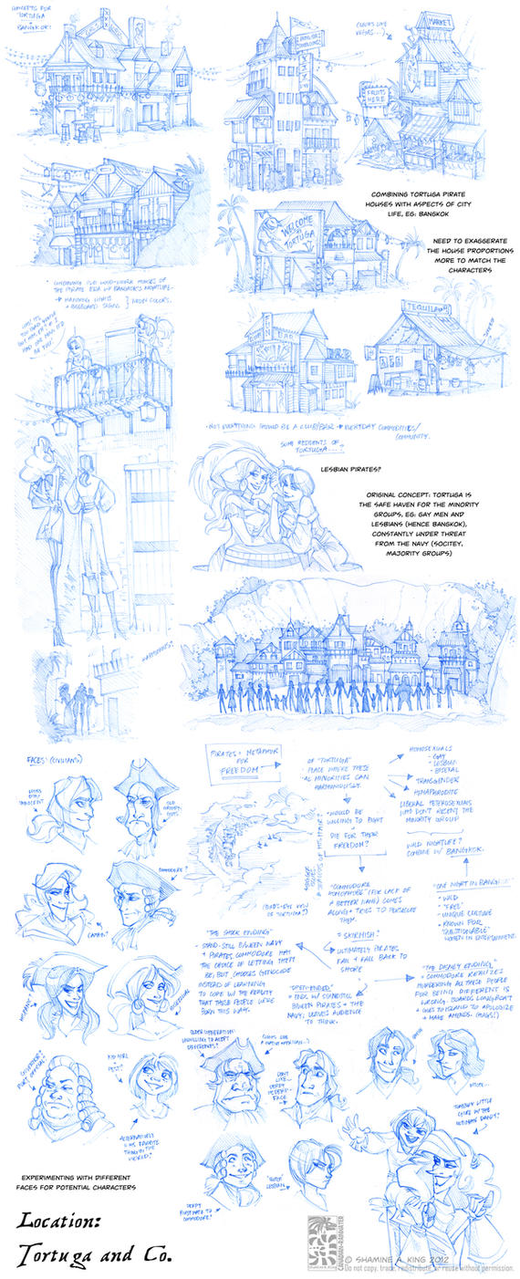 Location Sketches - Tortuga and Co by Quarter-Virus