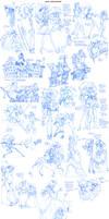Louis Sketchdump - Tortuga + Sister by Quarter-Virus