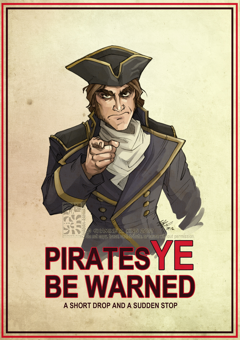 Pirates Ye Be Warned by Canadian-Rainwater