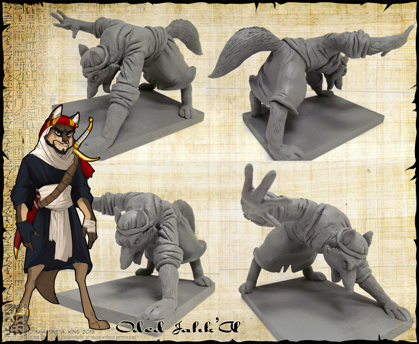 Maquette - Oded Jahk'Al by Canadian-Rainwater