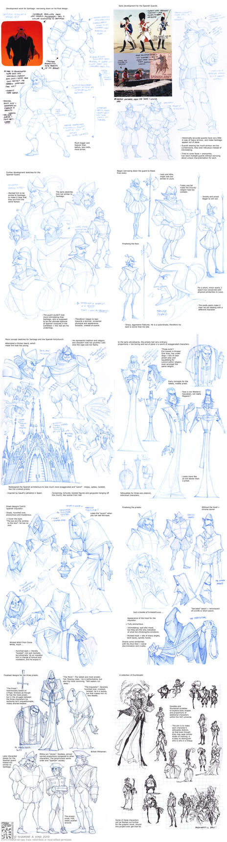 Sketchdump - Spanish Inquisition and Misc by Quarter-Virus