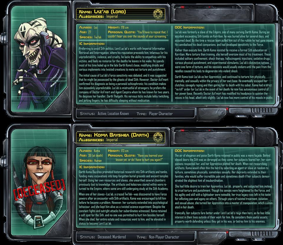 Laz'ab Character Profile by Quarter-Virus