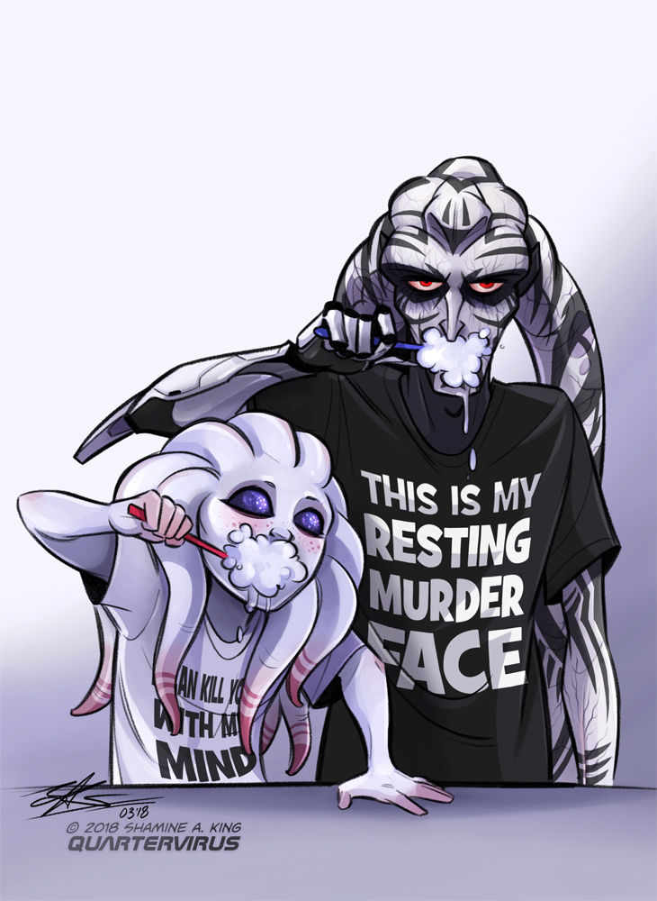 Resting Murder Face by Quarter-Virus