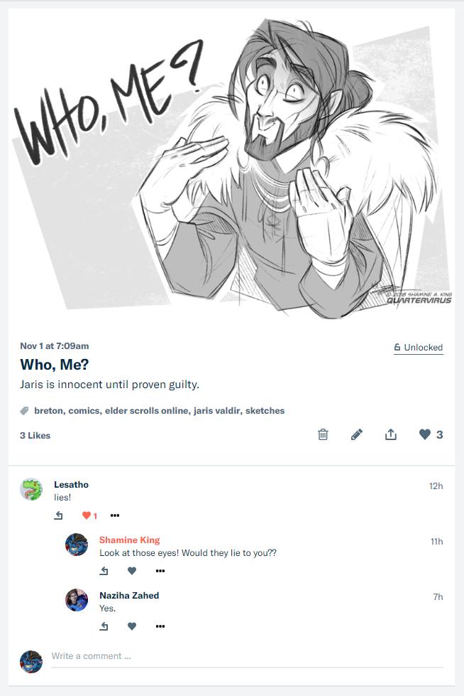 Who, Me? by Quarter-Virus