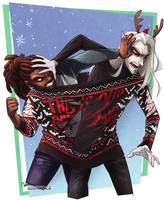 Ugly Christmas Sweaters: The Get Along Shirt by Quarter-Virus