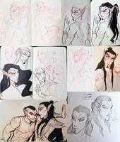 Moleskine Sketches: Some Adanas by Quarter-Virus