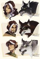 Rough: Werewolf Swatches by Quarter-Virus