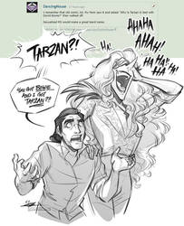 Tarzan and Bowie by Quarter-Virus