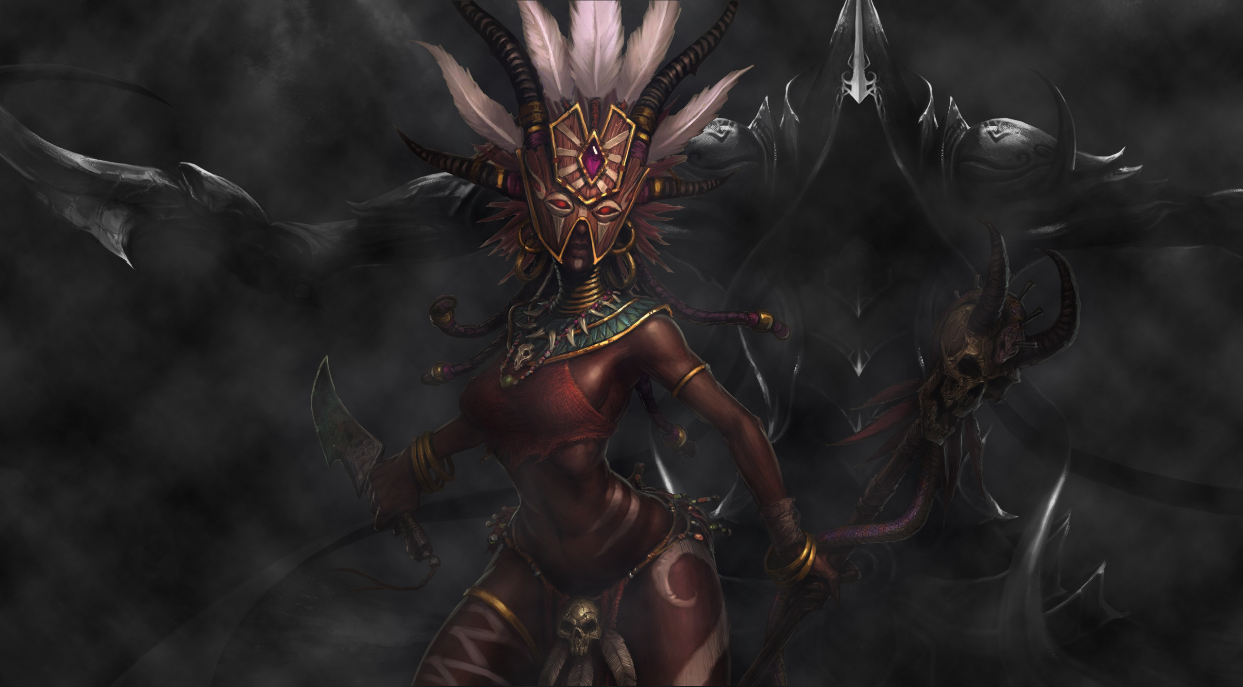 Witch Doctor Vs Malthael HD Wallpaper By Grekin