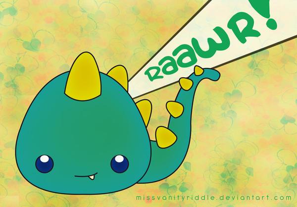 Baby dino-dragon by PetiteTangerine