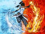 Korra water and fire bending