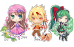 Chibi Commisssion: Pokemon team