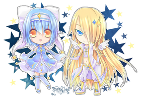 Commission: Chibi stars by KarameruYukika