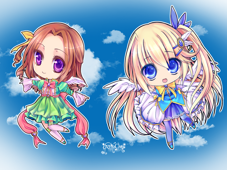 Chibi Angels by KarameruYukika