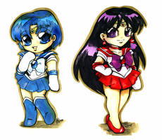 Sailor Mercury Mars Chibi CO by bastett