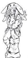 Bunny Angel Usago by bastett