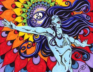 South Beach Krishna color by Dharmajon