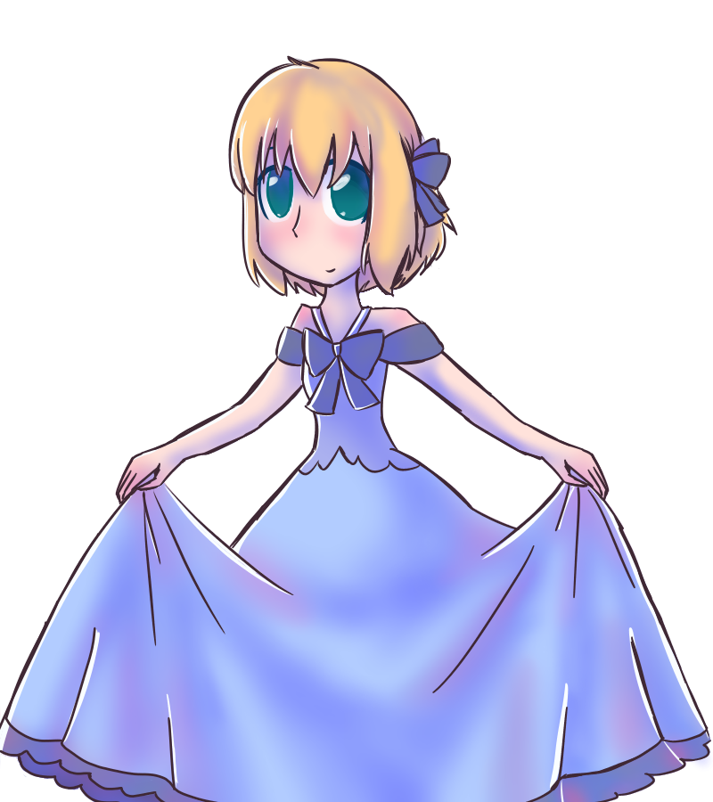 APH Liechtenstein in a fancy blue dress by emilyldraws0303