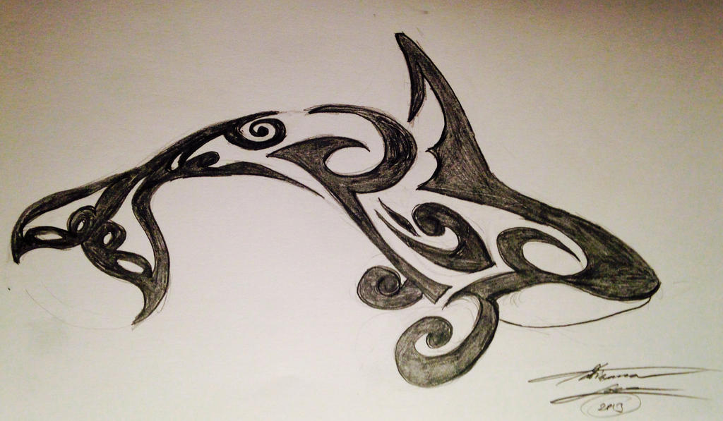 orca tribal tattoo by adribelle35 on deviantart. Black Bedroom Furniture Sets. Home Design Ideas