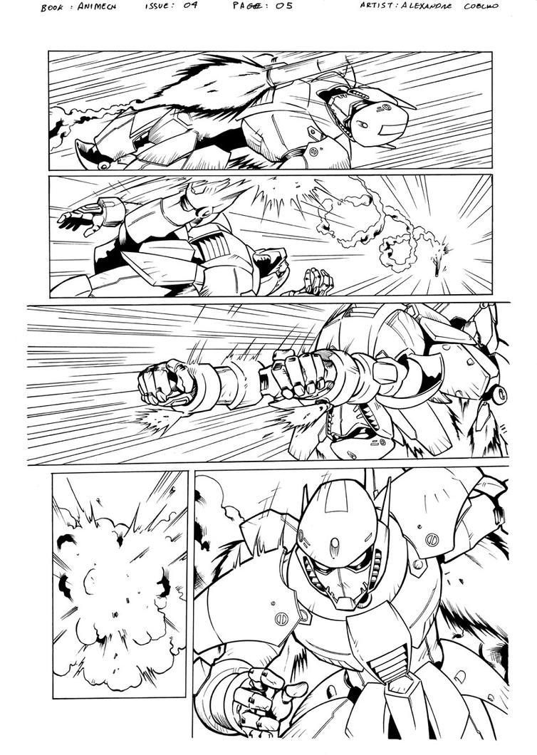 Animech page 05 inks by LexSeifer