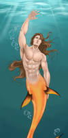 Merman Swimming