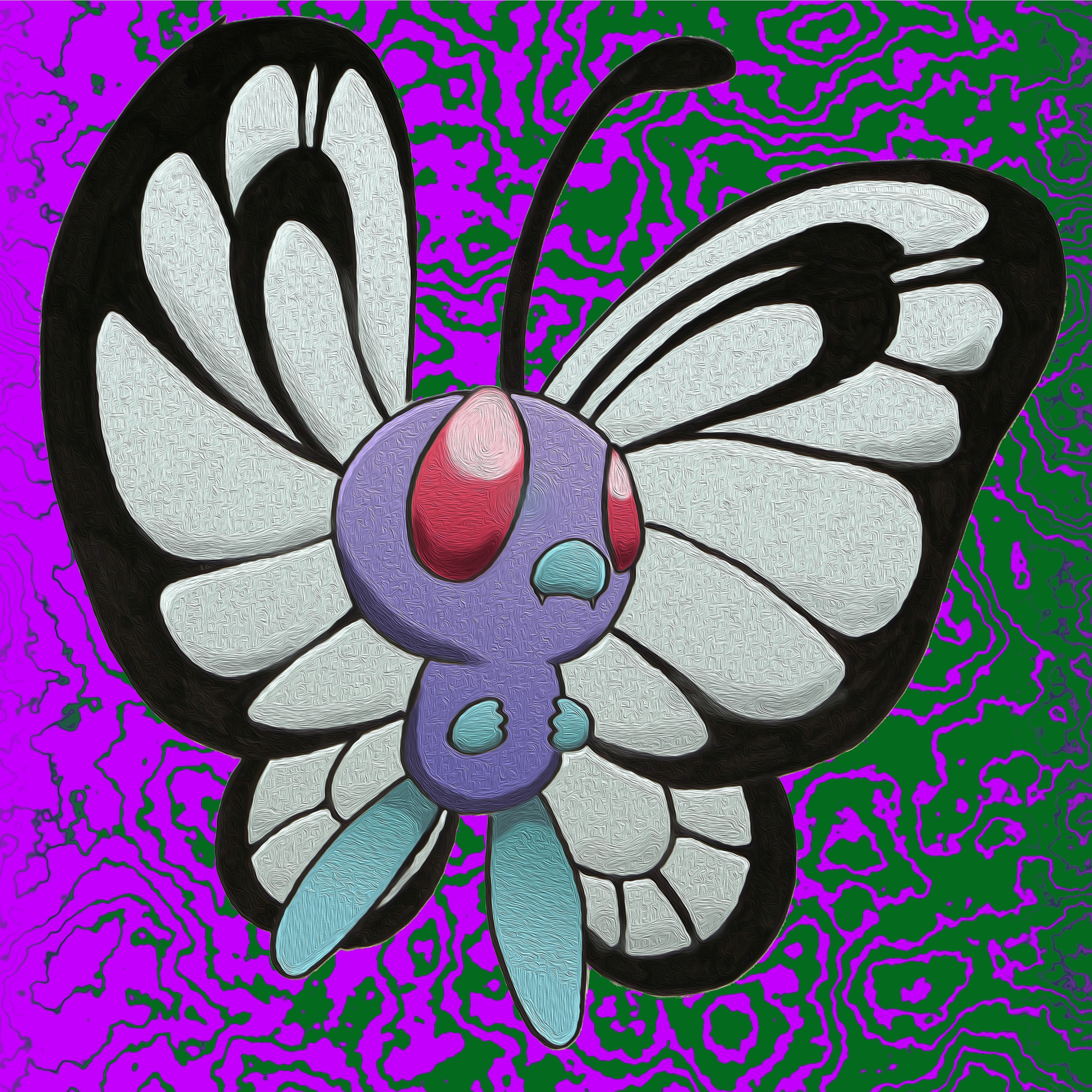 Butterfree (Oil Painting Color) by humannamedethan