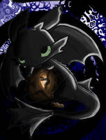Toothless Chibi (color) by humannamedethan