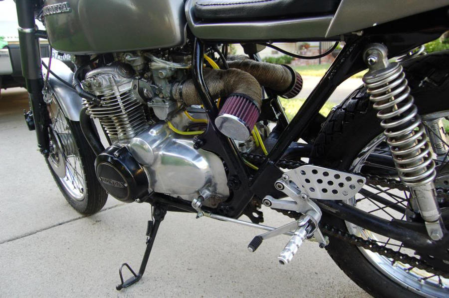 1971 Honda CB350F Cafe Racer By Bellapop