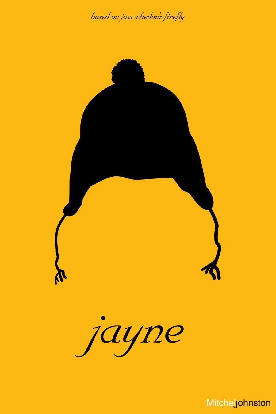 Firefly Minimalist Poster - Jayne Cobb by pmjohnst