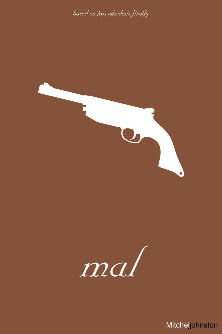 Firefly Minimalist Poster - Malcolm Reynolds by pmjohnst