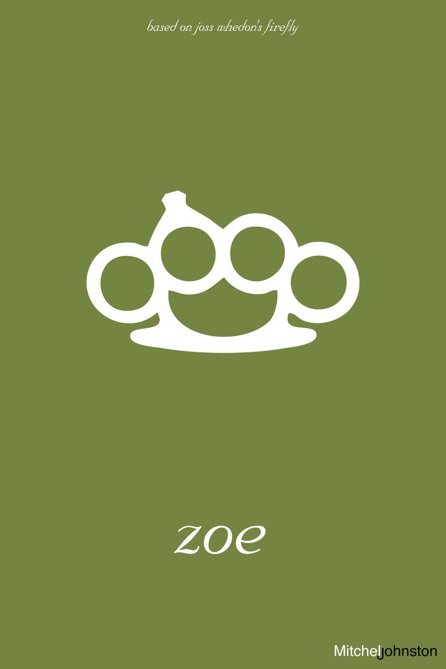 Firefly Minimalist Poster - Zoe Washburne by pmjohnst