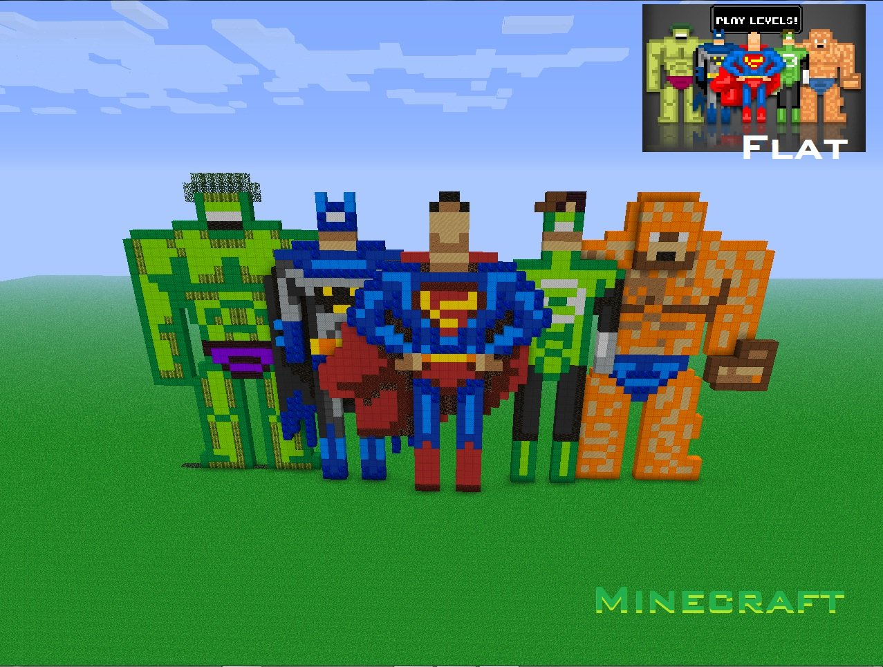 DC and Marvel Heroes in Minecraft by Michel-89angelus on DeviantArt
