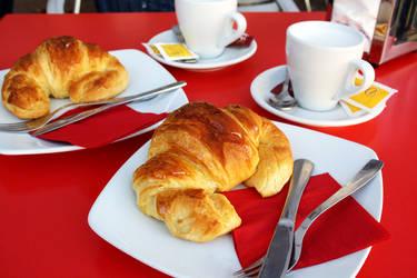 Special breakfast by decalcomanie