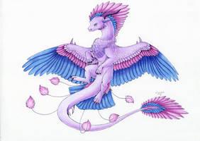 :. Pride Dragons + Bisexual Pride .: by DorkWolf-Nightmare