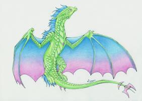 :. Pride Dragons + Polisexual Pride .: by DorkWolf-Nightmare