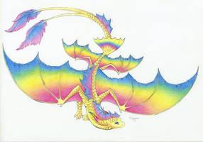 :. Pride Dragons + Pansexual Pride .: by DorkWolf-Nightmare