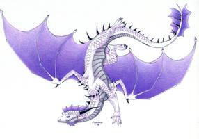 :. Pride Dragons + Asexual Pride .: by DorkWolf-Nightmare