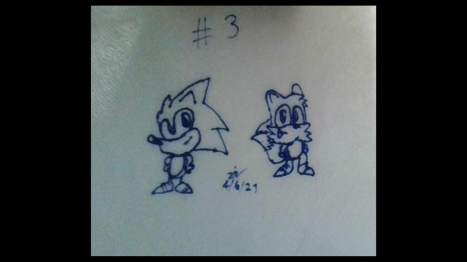 Random Sketch ''#3'' ~ My Style Sonic And Tails