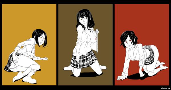 Triptych by Kinuko