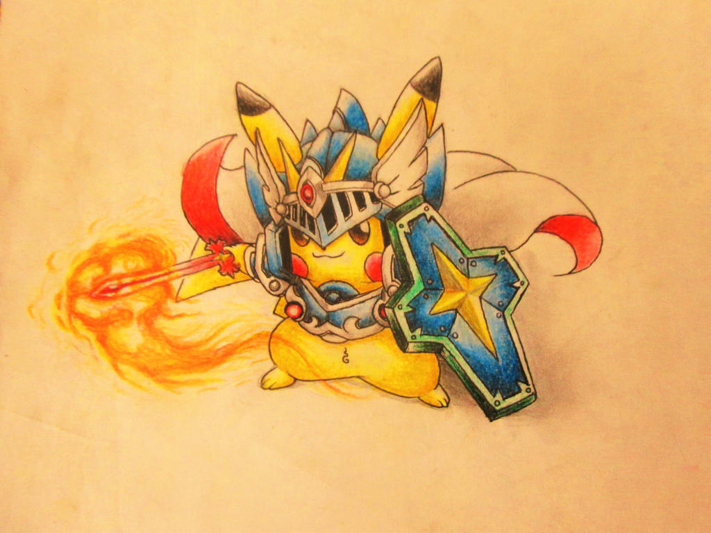 Knight Pikachu by AnhKhoiLe