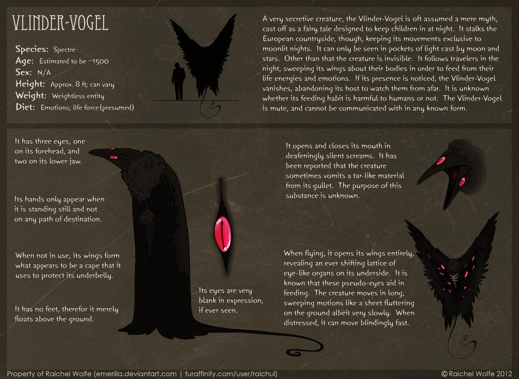 Vlinder-Vogel REFERENCE SHEET by R-WOLFE