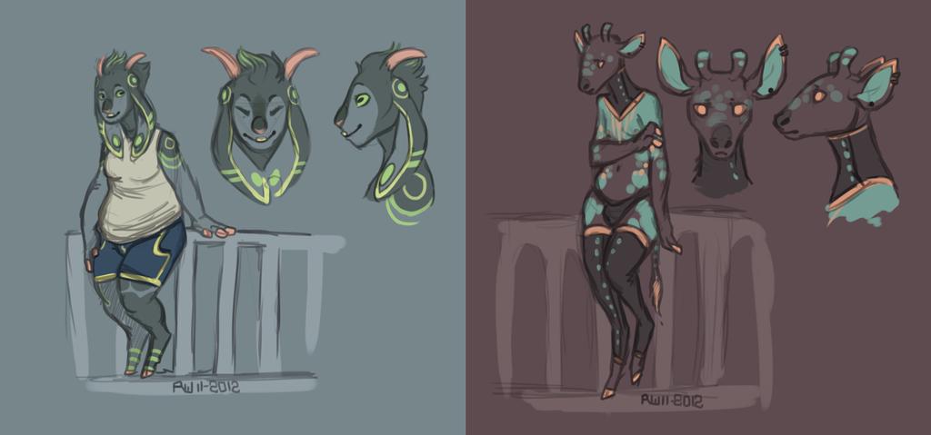 Goat n' Okapi by R-WOLFE