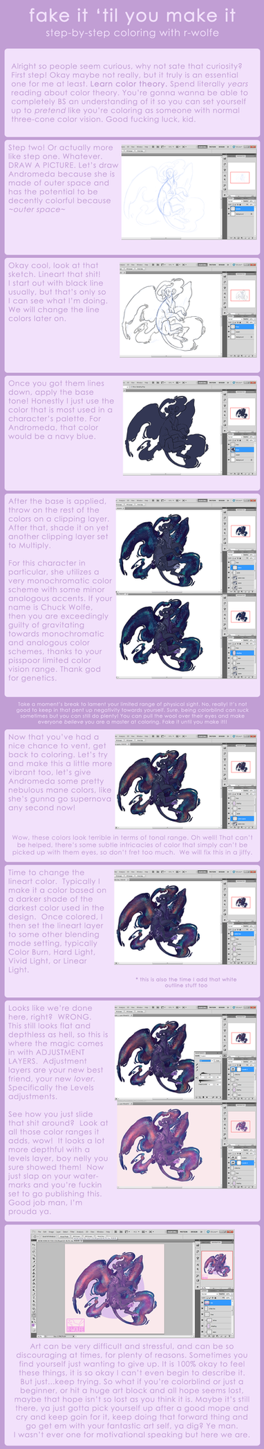 fake it 'til you make it! a coloring guide by VCR-WOLFE