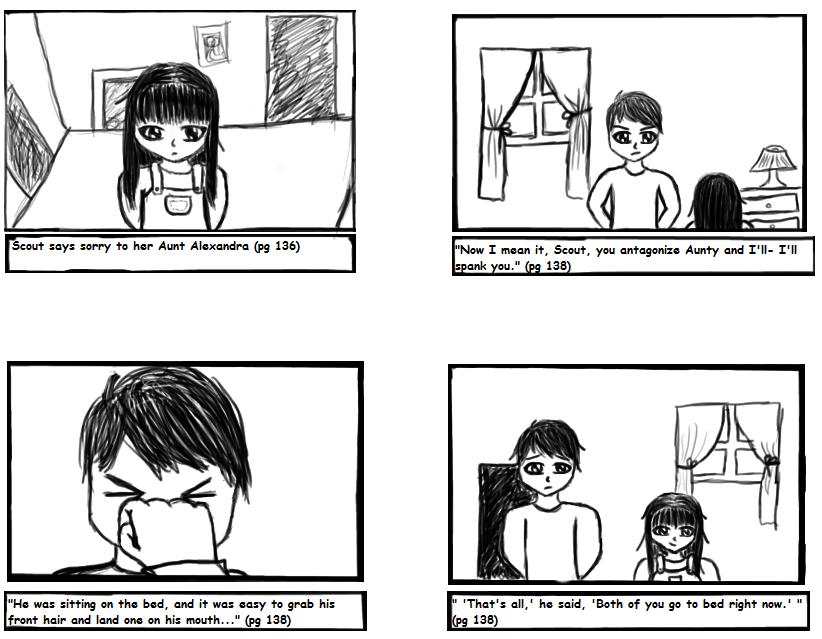 12 panel comic strip