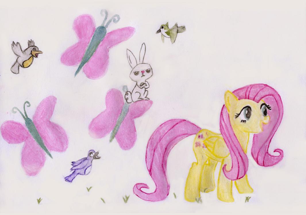 FlutterShy by Lydia-Rawr