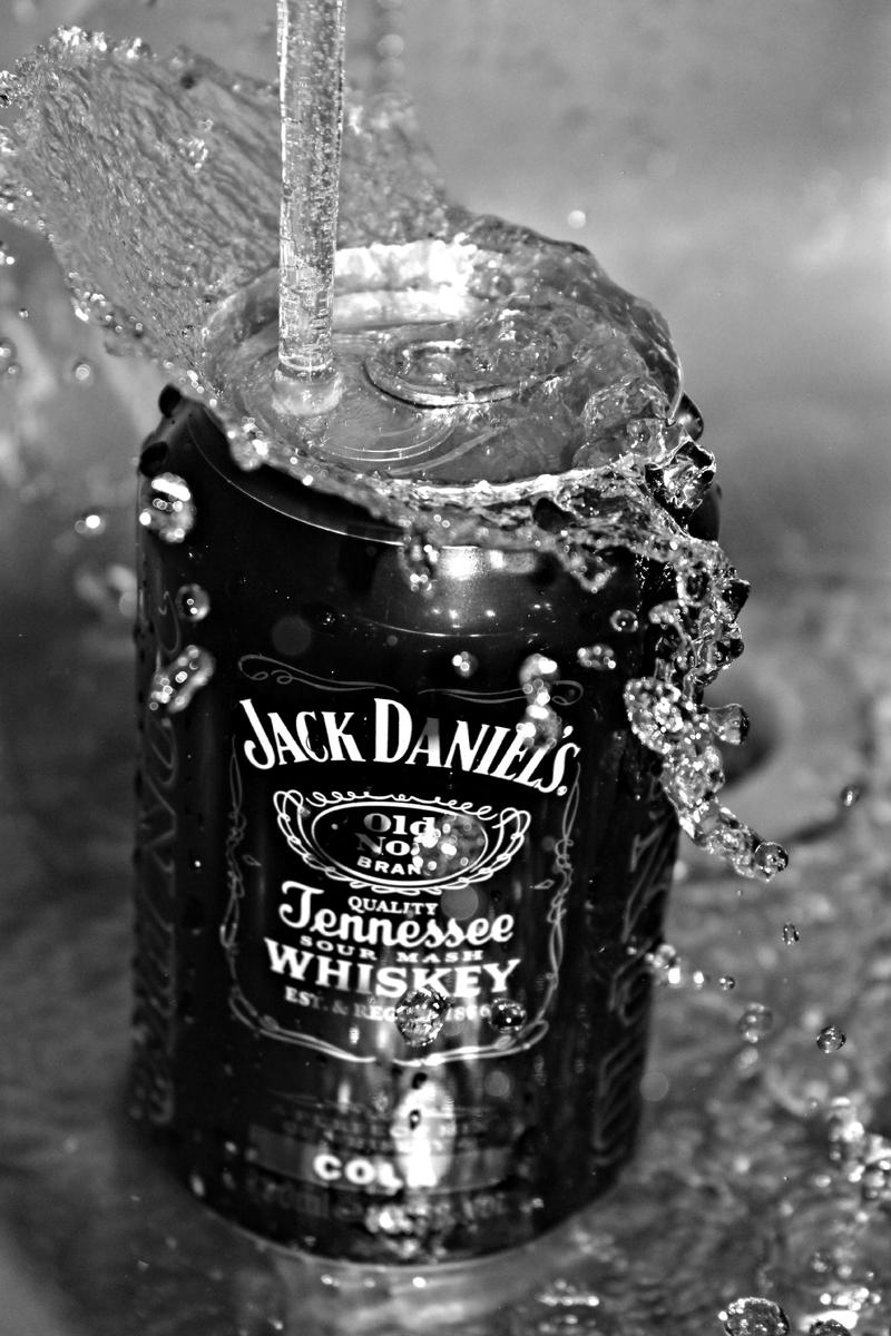 Jack and Cola (B/W) by aPurringCat