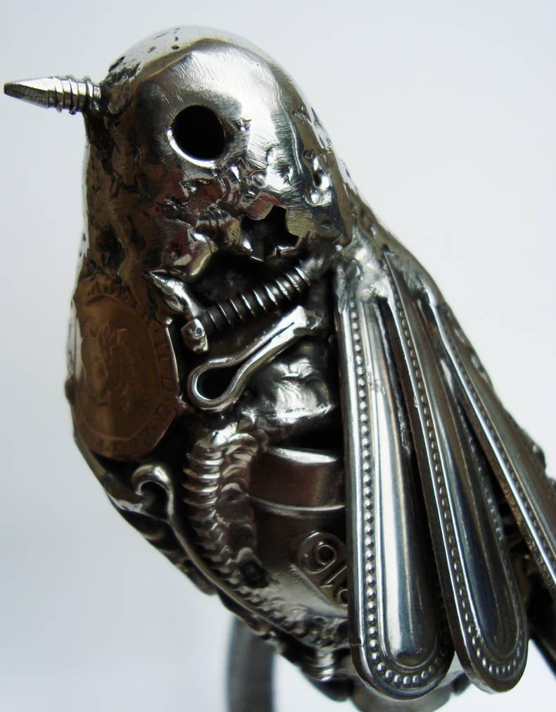 Scrap metal bird